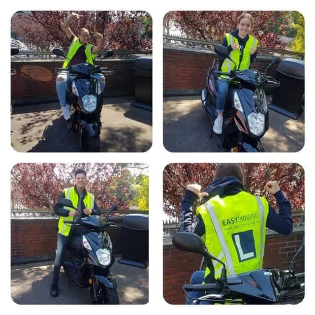 Geslaagd scooter